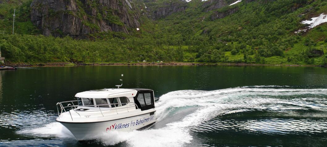 Fjell og sjø møtes i Trollfjorden