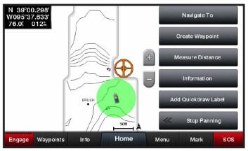 DYBDE: Quickdraw gjør det mulig å tegne opp egne dybdekart under veis.