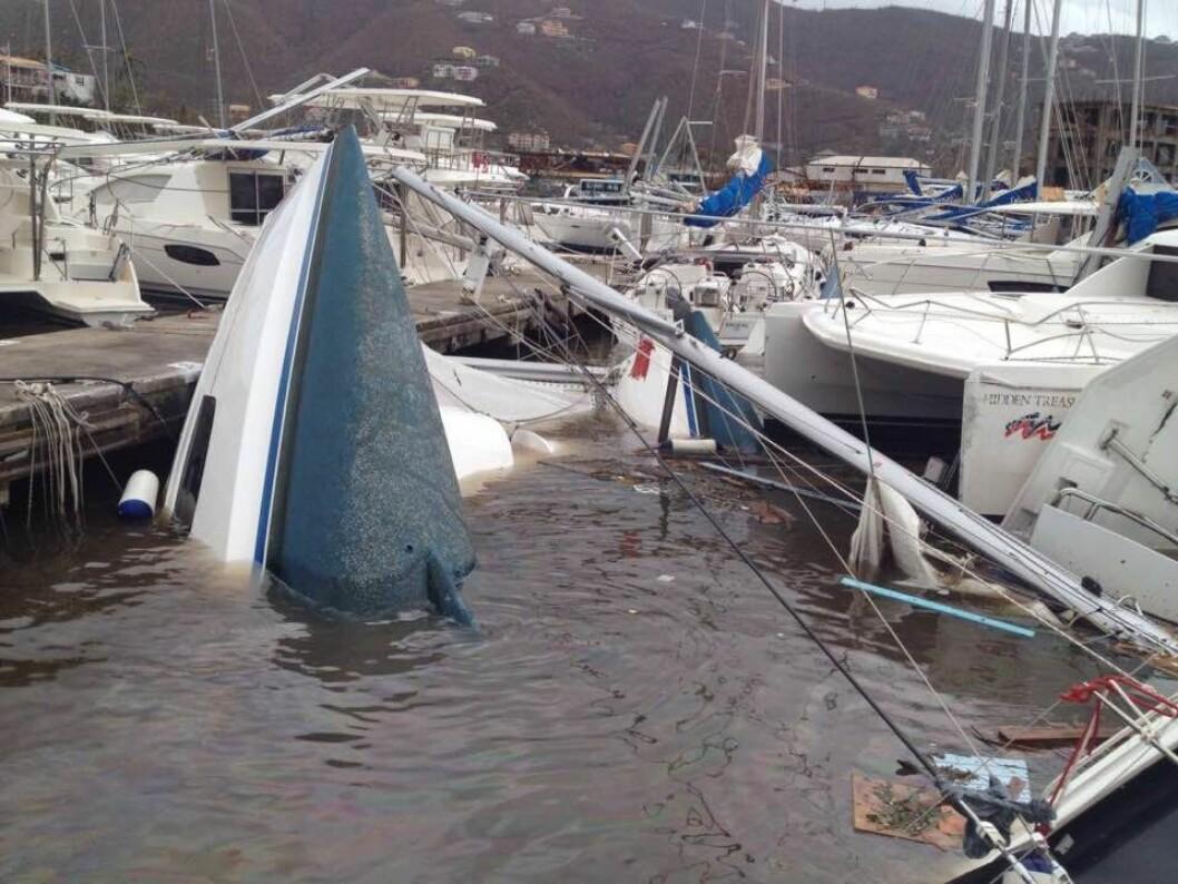 SKADER: Irma har knust 80 prosent av båtene, men bransjen skal opp på beina igjen.
