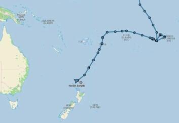SPORT: Langturseileren ble plukket opp 140 nm fra New Zealands kyst.