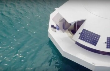 Solkraft gjør båten selvforsynt med energi.