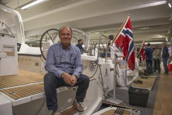 VOKSER: Harald Korn hos Giramar selger større båter og venter vekst.