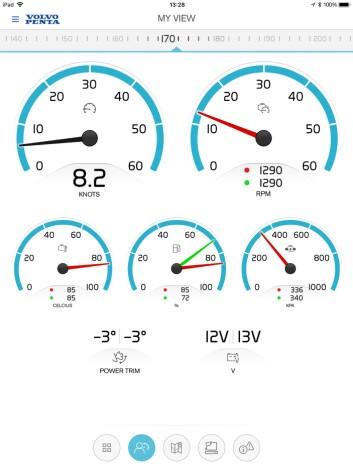 DATA: Med appen får du motorinstrumentene rett på mobilen.