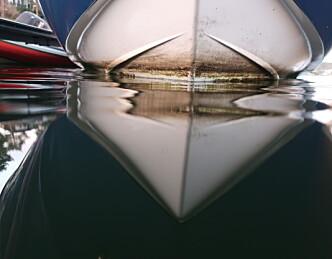 Ren og hvit under vann