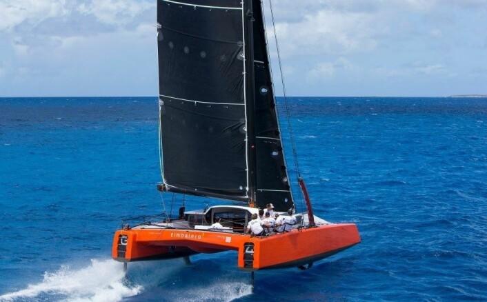 EKSTREM: Gunboat G4 er en foilende katamaran utstyrt med elektrisk motor.