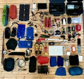 LETT: Magne reiser så lett som mulig, men er avhengig av sikkerhetsutstyr, samt utstyr for å dokumentere turen.