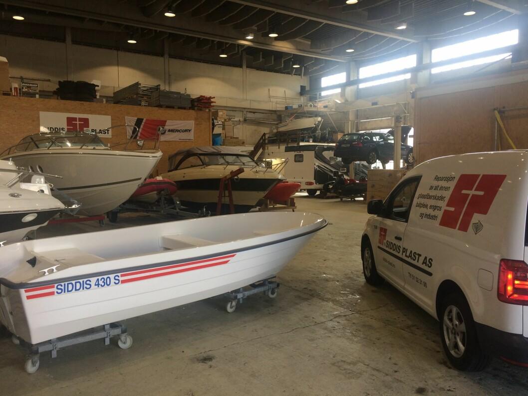 RESIRKULERT: Siddis 430 inneholder 30 prosent gamle glassfiberbåter.