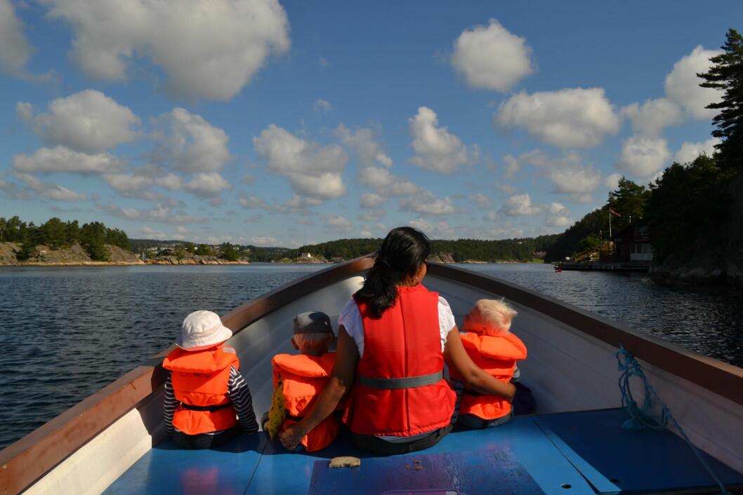 DEN GANG DA: Bergstø Barnehage brukte sjekta til turer for å lære om sjølivet, men er blitt stoppet av lovverket.