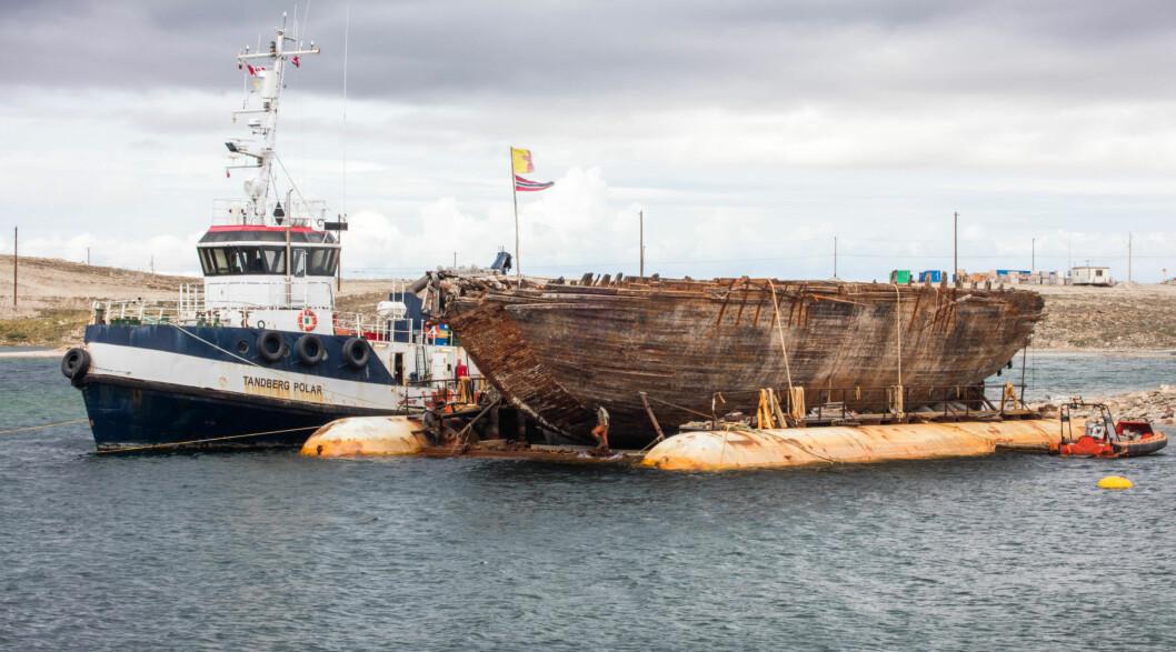TIL VOLLEN: 18. august ankommer «Maud« Vollen i Asker, og slepet vil trolig bli møtt av en stor mengde fritidsbåter.