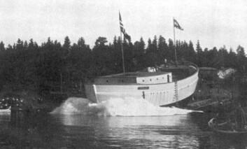 SAMME STED: nesten på nøyaktig samme sted som «Maud» ble sjøsatt vil båten bli fortøyd 101 år etter.