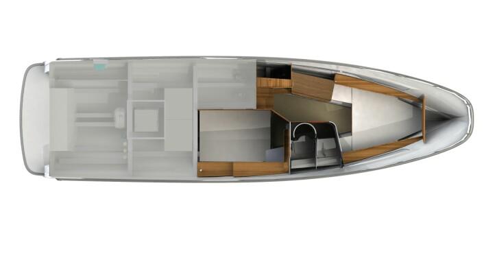 INTERIØR: Under dekk blir båtene ganske så like.