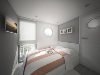 HUSBÅT: Lugaren, eller rommet i La Mare.