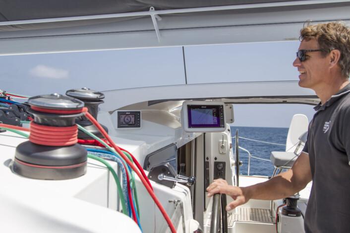 LANGTUR: I 2016-2017 seilte Knut Frostad med familie på langtur til Karibia med Outremer 5x, en båt proppfull med B&G-produkter.