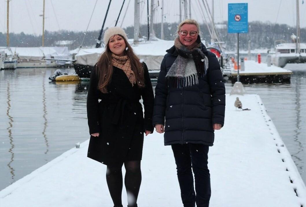 Høyrepolitikerne Beate Auke og Pia Farstad von Hall vil ha bybåter  med elektrisk utenbordsmotor, båtplass og ladepunkter flere steder langs Oslos sjøfront.