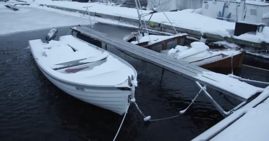 PASS PÅ: Du er båteier også om vinteren.