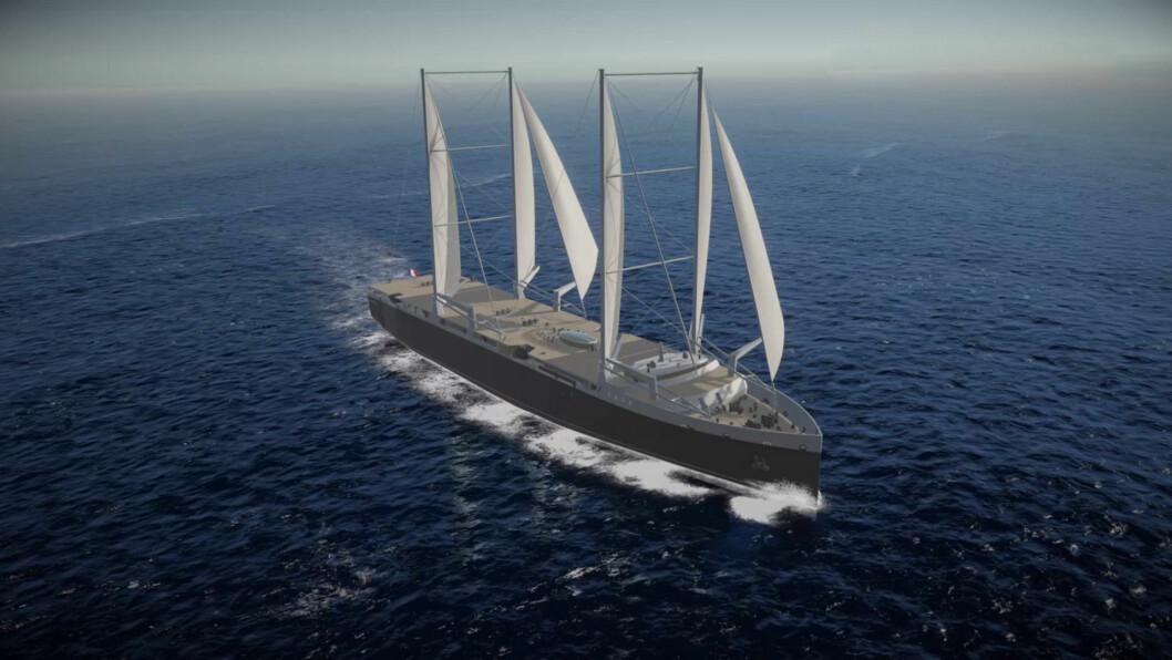 SEILSKIP: Neoliner skal settes i rute mellom Frankrike og USA, og frakte båter og biler.
