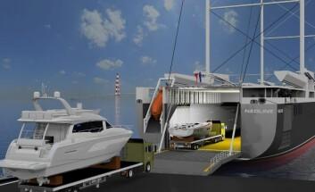 TRANSPORT: Beneteau vil bruke vindkraft for å transportere båter til USA.