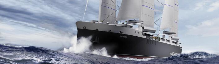 SEIL: Skipet får to rigger med to master.