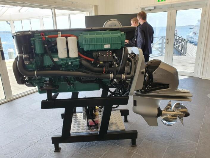 NYE MOTORER: Volvo Penta lanserer nå en ny generasjon dieselmotoer.