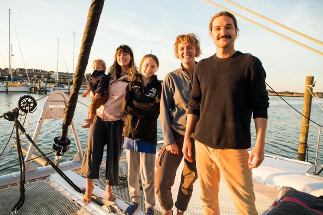 KLARE: Grete Thunberg skal vare med «La Vegabonde» over Atlanterhavet.