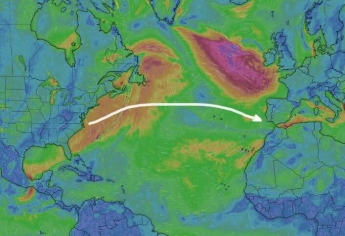 3200NM: Nord-Atlanteren er tøff på denne tiden av året. Det kan bli tøft å rekke klimamøtet i Madrid.