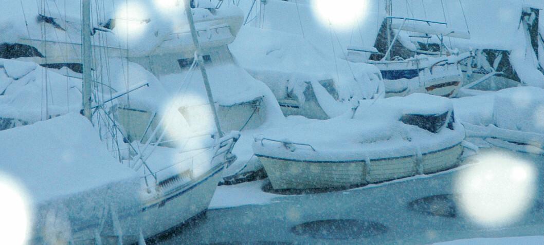 Nå fryser båten