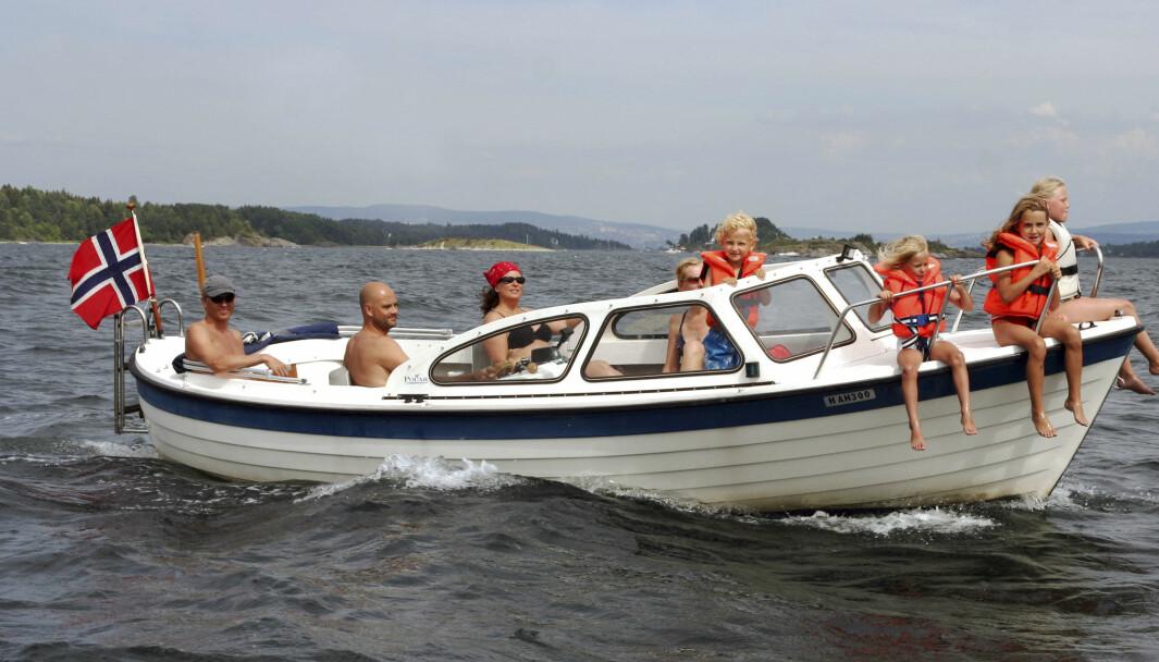 SOMMERIDYLL: Flere har vært på sjøen med båt, men færre har druknet på sjøen sommeren 2020.