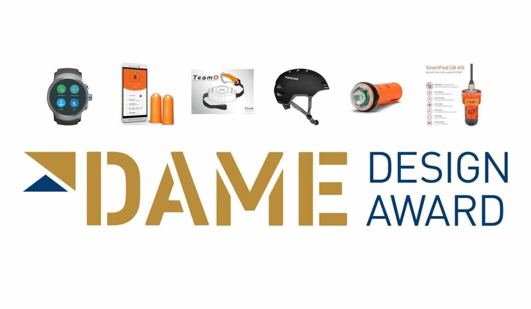 PRIS: Produktene som er nominert til Dame Award under kategorien sikkerhetsutstyr.