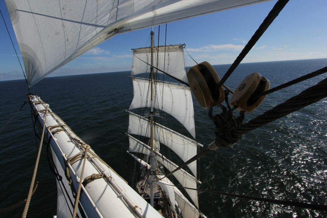 REN: «Statsraad Lehmkuhl» blir enda mer miljøvennlig med eldrift. Skipet bruker seil som fremdrift 60 prosent av tiden under veis.