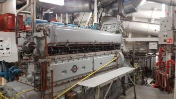 MOTOR: Skipets dieselmotor skal erstattes av el og batteri.