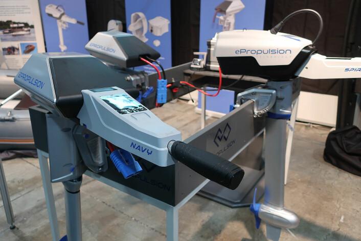 UTVALG: ePropulsion har påhenger på 1, 3 og 6 kW. De har også en 300 watts motor for kajakk, SUP og kanoer.