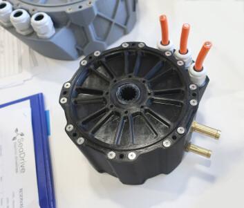 MOTOR: SeaDrive har også kraftigere motorer i portofølgen. Kompakte og avanserte.