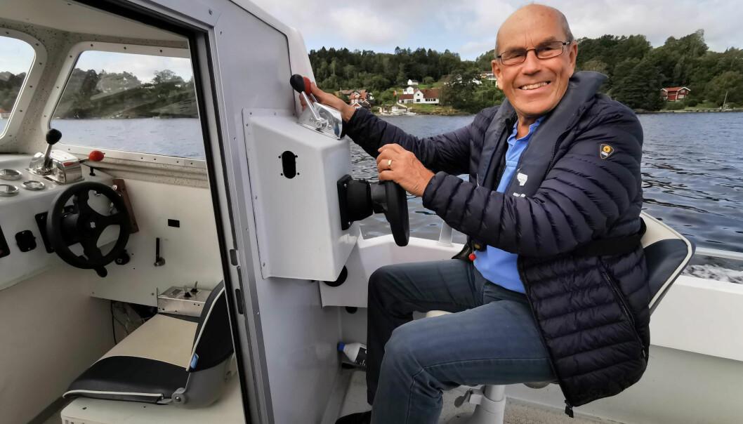 PROSJEKT: Den pensjonerte ingeniøren Olav Skyllingstad har en drøm om å lage et enkelt hybdridsystem i båt.
