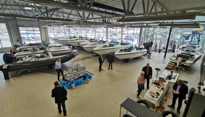 17 båter: Nordkapp, Zodiac og Sting vises i de nye lokalene.