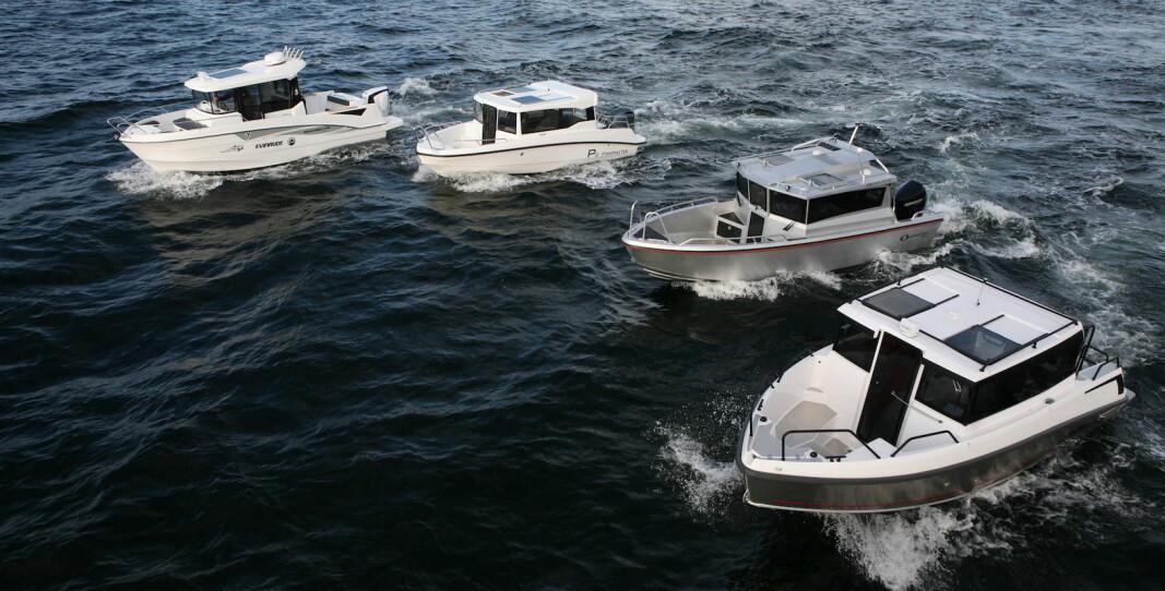 TEST: Vi har testet fire styrhusbåter på mellom seks og syv meter.