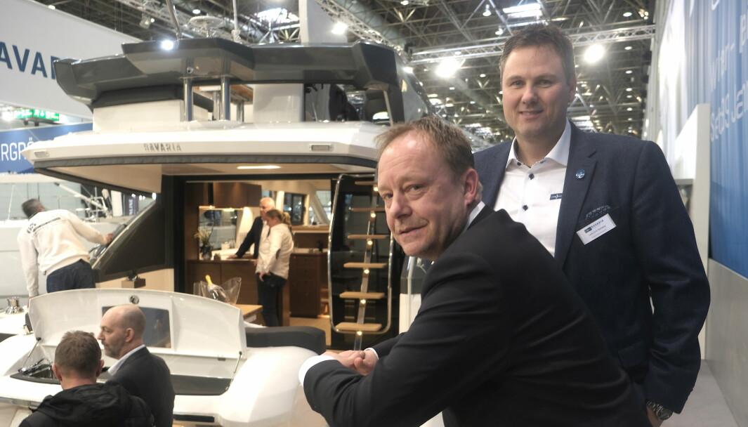 VALUTA: Svak norsk kroner gjorde at 2020 ble et dårlig år for storselgeren Bavaria Båt Norge (Claes Eliasson og Lars-Erik Solvang.