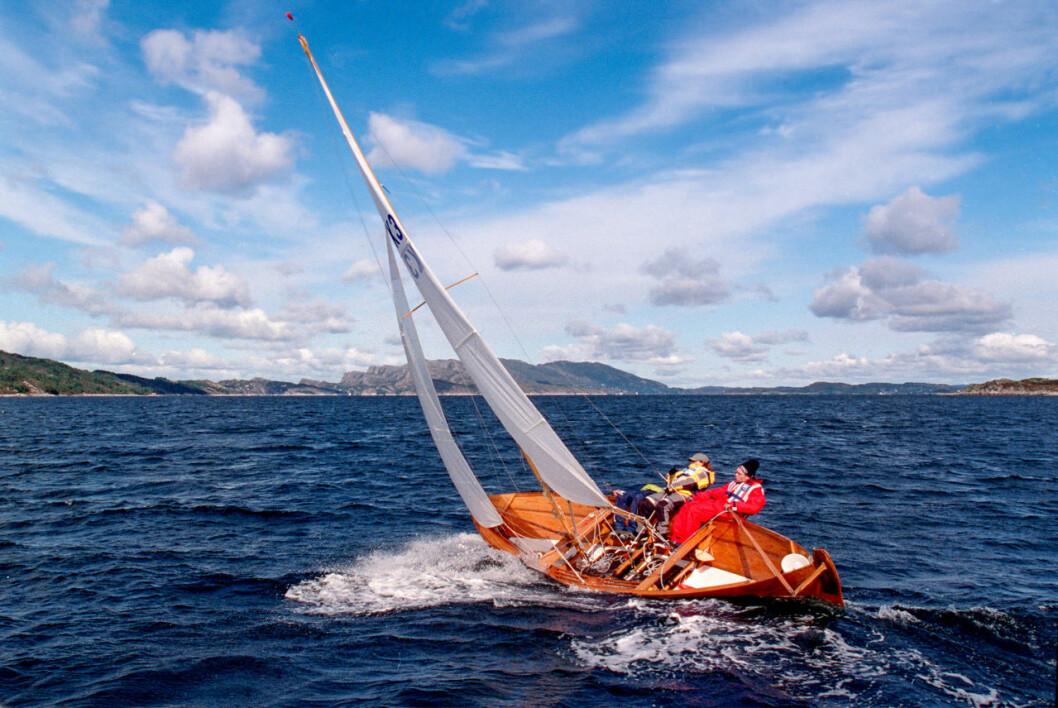Oselvaren er en smekker robåt, mykt bygget av tynne materialer og bare tre bordganger.