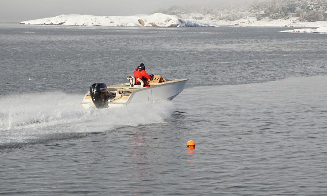 FORNØYD: Hydrolift er fornøyd med skroget til den nye X-22.
