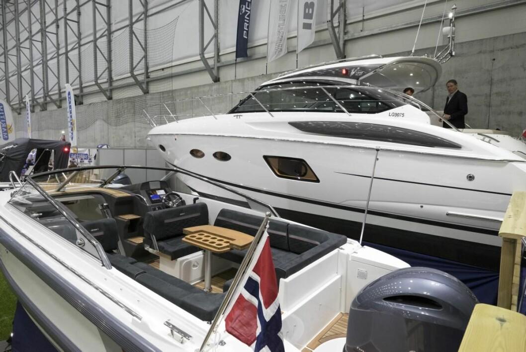 ALLE STØRRELSER: Publikum fikk se båter i alle størrelser og prisklasser.
