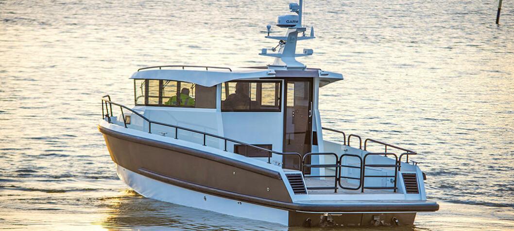 Flerbruksbåten Modius 34 til Norge