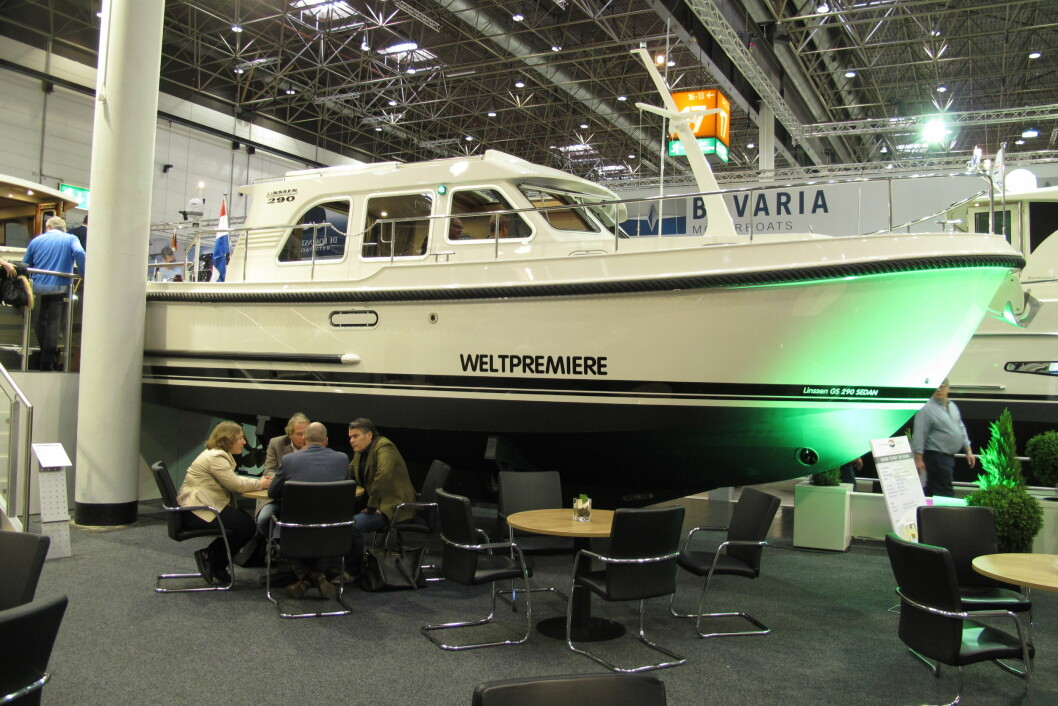 Verdenspremiere på Linssen Grand Sturdy 29 Sedan i Düsseldorf