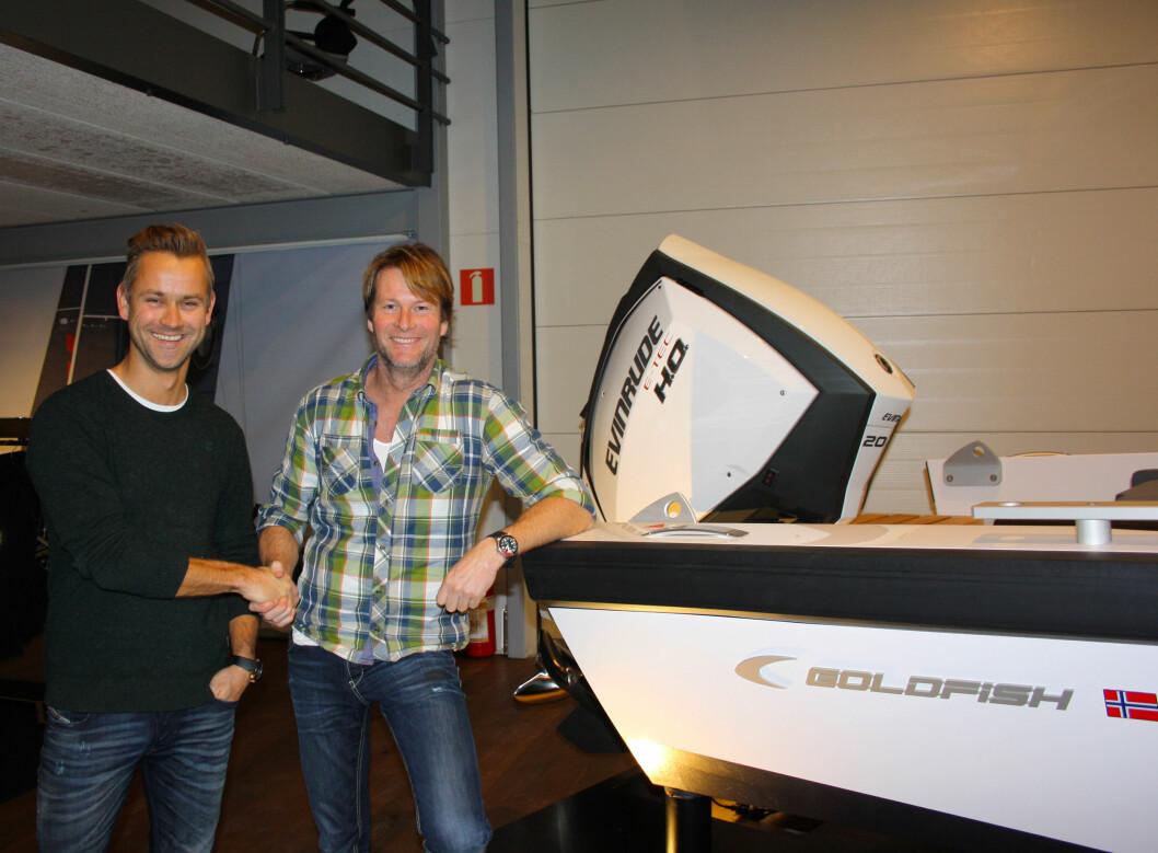 PÅL OG PÅL: Pål Virik Nilsen og Pål Sollie vil samarbeide i nytt prosjekt om høyhastighetskjøring. (Foto: Goldfish).