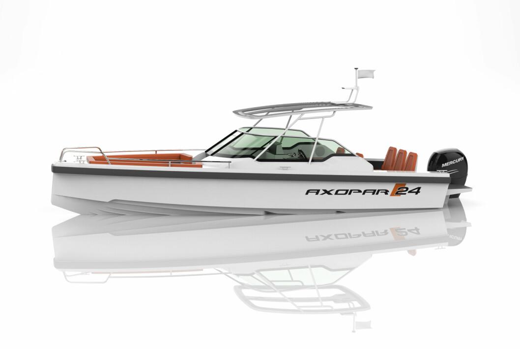 AXOPAR: Har stor fokus på båter rundt 7 meter, her nyheten 24 T-top.