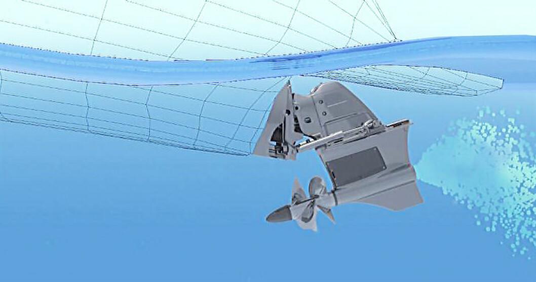 NYE TANKER: Volvo Penta har utviklet et drev hvor propellene trekker båten, i stedet for å skyve.