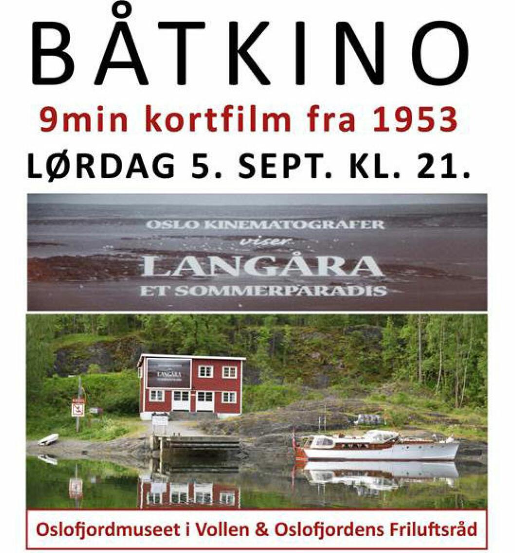 UTEKINO: Oslofjordmuseet og Oslofjorden Friluftsråd står bak utekino for båtfolket lørdag kveld.