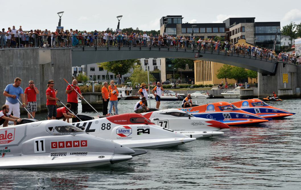 VM: Verdens beste båtførere i båtsportklasse F2 stiller til start i VM i Tønsberg i helgen.