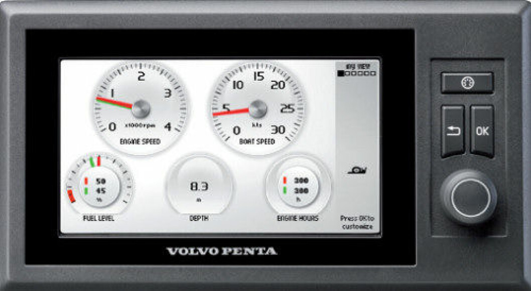 Volvo Pentas elektroniske fartøykontroll-system, EVC.