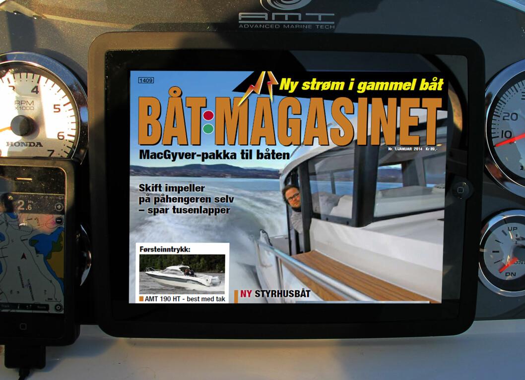 LES BÅTMAGASINET hvor du vil med iPaden. Første nummer er gratis.