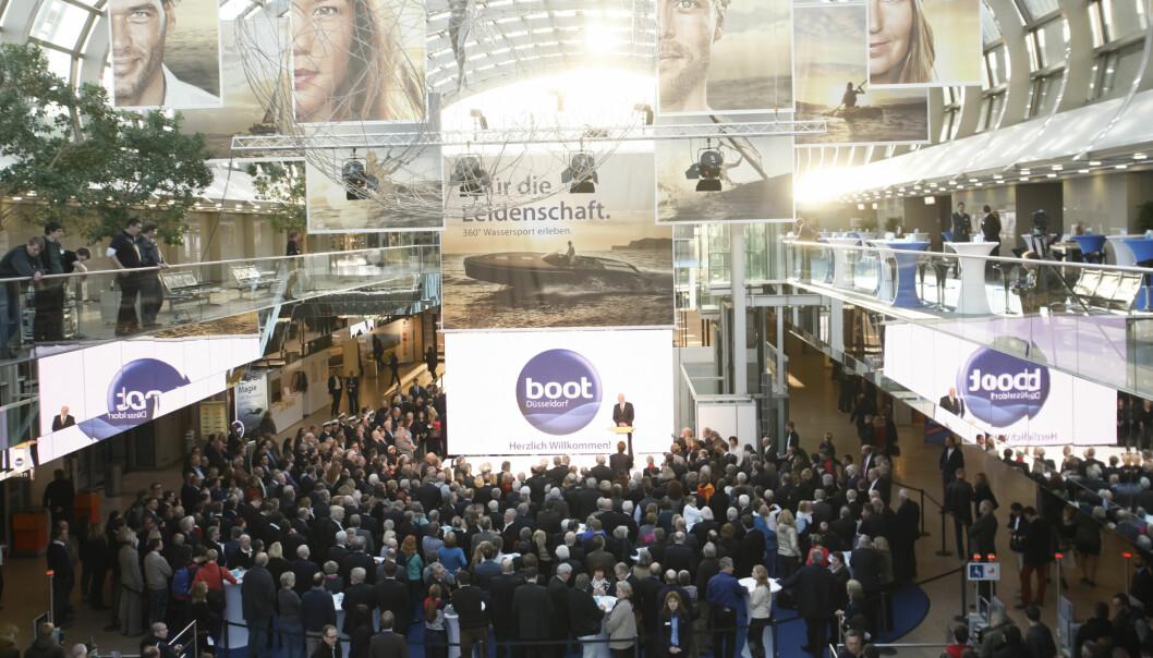 INGEN BOOT DÜSSELDORF: Verdens største innendørs båtmesse er utsatt ganske nøyaktig ett år.