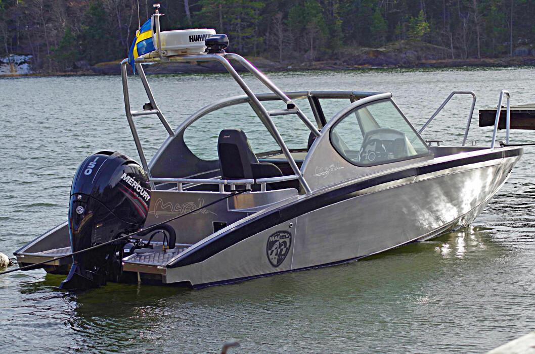 UTFORDRER: Marell er et nytt svensk båtmerke som vil ta opp kampen med de etablerte svenske aluminiumsbåtene. tanken er å være nyskapende i tillegg til å tilby de råeste sjøegenskapene.